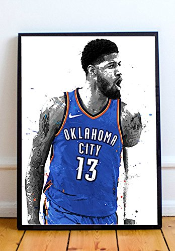 Paul George Limited Poster Artwork - Professional Wall Art Merchandise (More Sizes Available) (11x14)