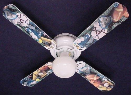 Modern Fan Ball Hugger - Ceiling Fan Designers Ceiling Fan, Soccer Football Baseball Sports, 42