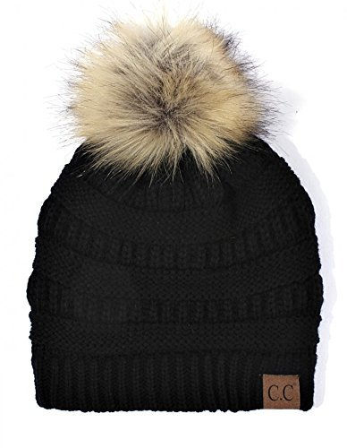 Hatsandscarf-CC-Exclusives-Unisex-Solid-Ribbed-Beanie-With-Pom-HAT-43