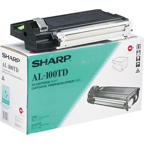 Sharp AL-100TD 6000 Page Yield Laser Toner Cartridge for Sharp AL-1000, 1010, 1020, 1041, 1200, 1220, 1250, 1521 Printers (Black) (Printers 1521)