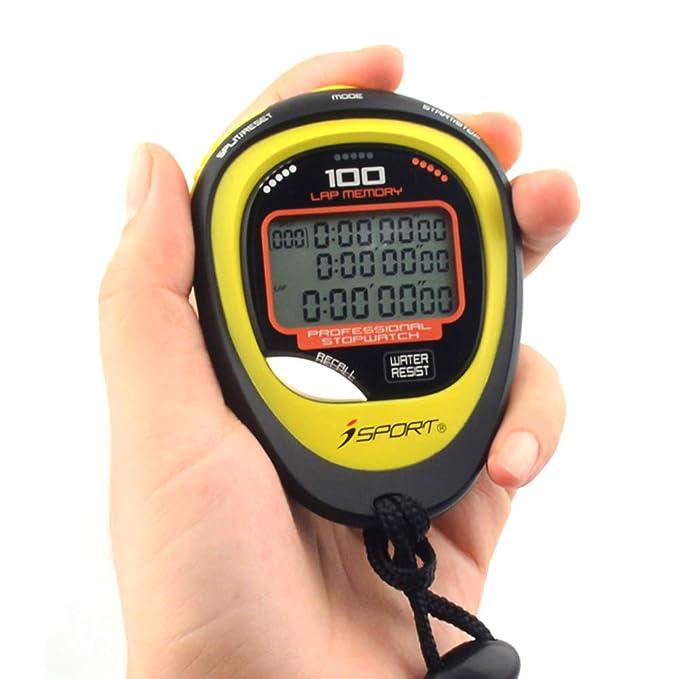 Cronómetro Digital Profesional Temporizador de Tres Filas Pantalla ...