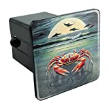 zodiac trailer - Graphics and More Zodiac Cancer Crab on The Tropical Moonlit Beach Tow Trailer Hitch Cover Plug Insert 2