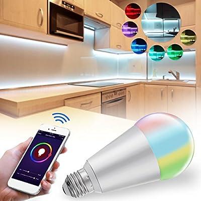 Farway Led Smart Light Bulb E27 10W Wireless WiFi Dimmable RGBW LED Light Smart Bulb for Amazon Alexa Google Home AC85-265V