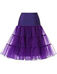 Blidece Women's Plus Size 50s Vintage Tutu Skirt Petticoat Rockabilly Crinoline Underskirt