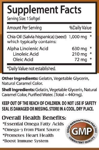 Amazon.com: Aceite de Semillas de Chía 2000 mg Omega 3 – 6-9 ...
