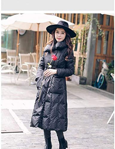 GDRFHJZ Nuova Giacca Invernale Calda Slim Era Modelli Lanky per Aumentare Il Colore Solido della Moda Femminile