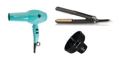 Diva Professional Rapida 3700 secador de pelo turquesa, Universal Pro XXL y Diva Mini Negro