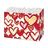 Large Hearts Of Gold Basket Boxes - 10 1/4 x 6 x 7 1/2in. - 84 Pack