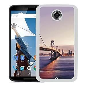 New Beautiful Custom Designed Cover Case For Google Nexus 6 With San Francisco Golden Gate Bridge (2) Phone Case