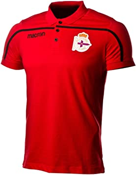 Macron RC Deportivo La Coruña 2018-2019, Polo, Red-Black, Talla L ...