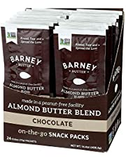 Barney Butter Almond Butter Snack Pack, Chocolate, 0.6 Ounce, 24 Count