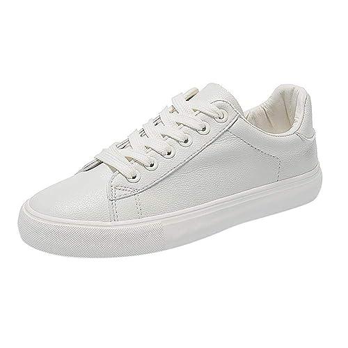 Logobeing Zapatillas Deportivas de Mujer Blanco, Running Mujeres Deportivas Mujer, Zapatos de Respiración Vulcanizados