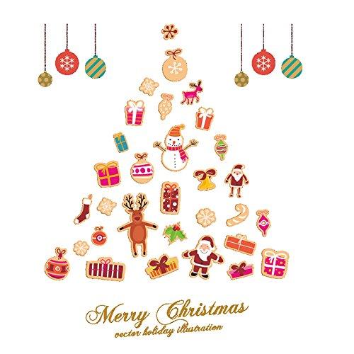 2017nuevo muro de feliz navidad impermeable Navidad Decoración Tienda Ventana Pegatinas De Pared