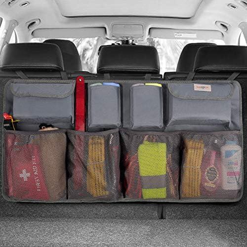 Waterproof Kick Mats Car Organiser Seat Back Protectors with Multi Pockets QEES Car Back Seat Organiser