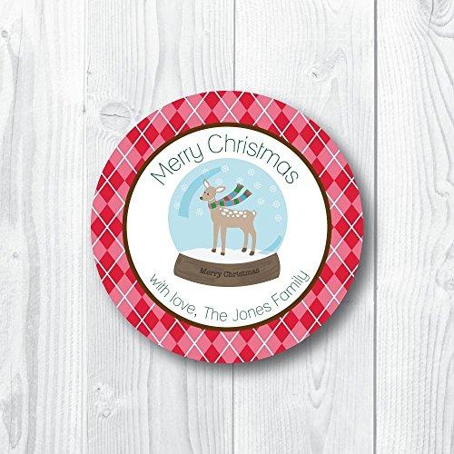 Argyle Deer Snowglobe Holiday - Argyle Deer
