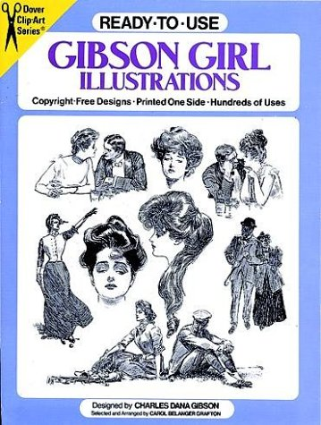 Ready-to-Use Gibson Girl Illustrations (Clip Art Series) (Clipart Of Girls)