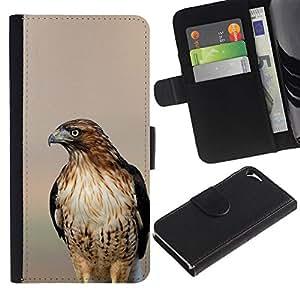 All Phone Most Case / Oferta Especial Cáscara Funda de cuero Monedero Cubierta de proteccion Caso / Wallet Case for Apple Iphone 5 / 5S // halcón borrosa atardecer aves naturaleza del verano