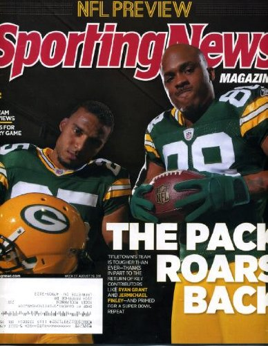 Sporting News August 29 2011 Ryan Grant & Jermichael Finley/Green Bay Packers on Cover, NFL ()