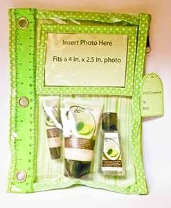 Fresh Sweet Coconut & Lime Hand & Lip Travel Set of 3 - Lip Gloss, Hand Cream, Hand Sanitizer