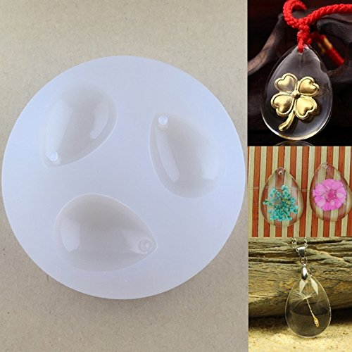 Hacloser Water Drop Molds with Hole for Resin DIY Gem Mold Resin Casing Craft Pendant Jewelry Making Tool