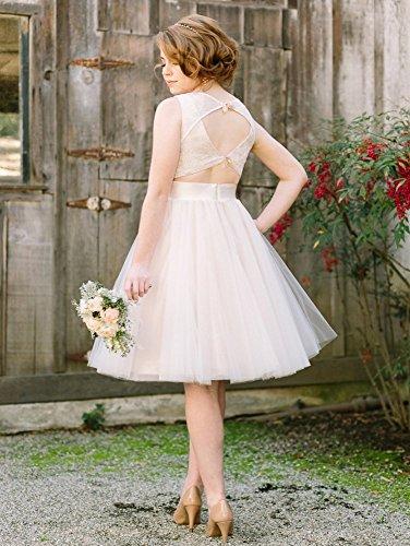 Lace Dress Bridal Champagne Wedding for Dreagel Women line A Vintage Dress Short fH8YHqT