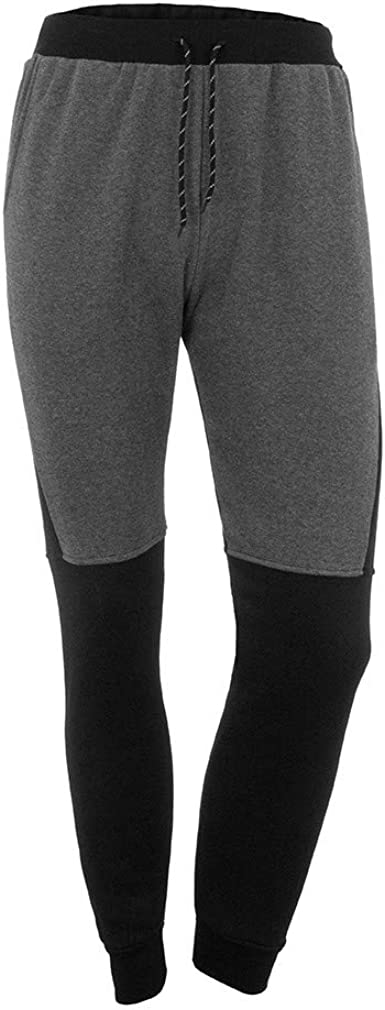 L,Gray Sharemen Mens Patchwork Tracksuit Set Sweatshirt Jogger Sweatpants