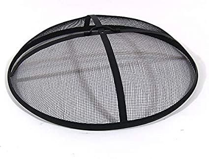Amazon Com Sunnydaze Outdoor Fire Pit Spark Screen Cover Round