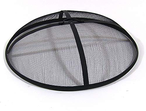 Spark Screen - Sunnydaze Outdoor Fire Pit Spark Screen Cover, Round Heavy-Duty Steel Mesh Lid, 30-Inch