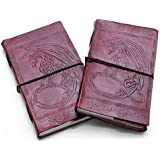 """FABIANO Embossed Dragon 9"""" Handmade Leather Journal Diary Thought Book Bound Notebook Travel"""