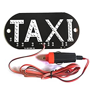 uxcell Taxi Cab Interior Windscreen Windshield Sign 45 LED Green Light Lamp Bulb DC 12V
