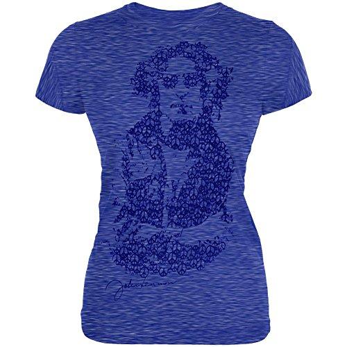 John Lennon - Womens Peace Juniors T-shirt X-Large Blue