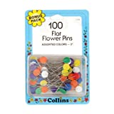 quilters flower pins - Quilter's 2'' Flat Flower Pins (100/pkg) Bonus Pack By The Each