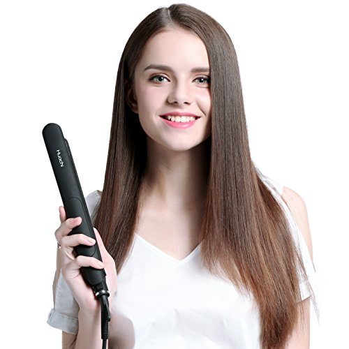 Huachi Steam Hair Straightener Salon Ceramic Tourmaline Flat Iron With Vapor Heat Up Fast