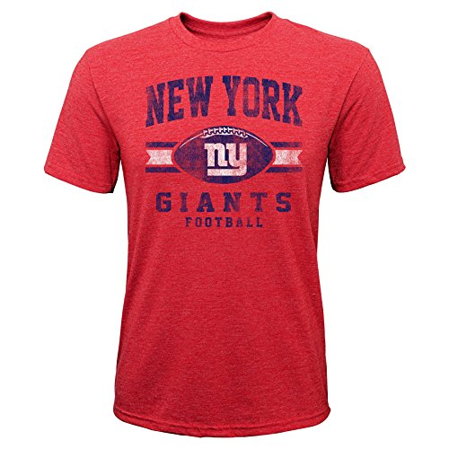 (Outerstuff NFL NFL New York Giants Youth Boys Player Pride Short Sleeve Tri-Blend Tee Red, Youth)