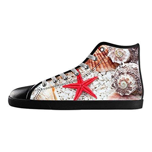 Chaussures De Toile De Coutume De Starfish Beach Mens Les Lacets Dans Le Haut Au-dessus Des Chaussures De Toile De Chaussures De Baskets.