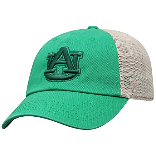 Top of the World Auburn Tigers Tow Green St. Patrick's Day Tan Mesh Adj. Slouch Hat Cap