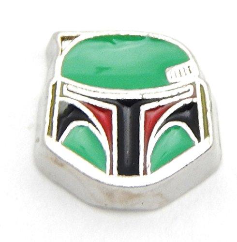 - Cherityne Star Wars Boba Fett Helmet Floating Charm for Locket Pendants