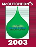 McCutcheon's Functional Materials Vol. 2 : International Edition, MC Publishing Co., 0944254942