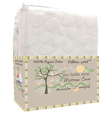 My Little Nest Organic Cotton Quilted Pebbletex Waterproof Crib Mattress Pad