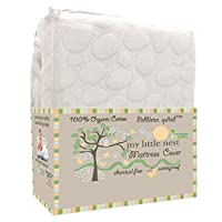 My Little Nest Organic Cotton Quilted Pebbletex Waterproof Crib Mattress Pad