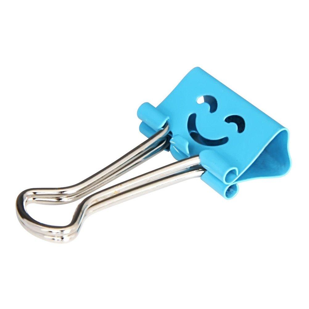 Kobwa Pisapapeles Clip doble clip papel de metal cara sonriente colores surtidos 40/piezas