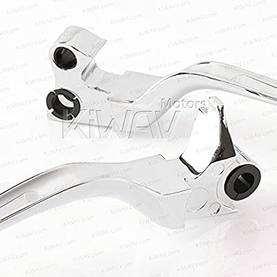 KiWAV Slotted 2color hand control levers chrome for Harley '96-'03 XL '96-later Dyna '96-'14 Softail '96-'07 Touring: Automotive