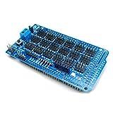 HiLetgo MEGA2560 ATmega2560-16AU Sensor Shield Sensor Expansion Board V2.0 with Bluetooth SD Card APC220 Wireless RF Ultrasonic Sensor Communication Interface