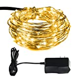 M Bar Kitchen Groupon ILLUNITE 33 Feet 100 LED String Lights, Waterproof Decorative Bendable Copper Wire Lights for Bedroom, Patio, Garden, Gate, Yard, Parties, Wedding, Seasonal Holiday( Warm White )
