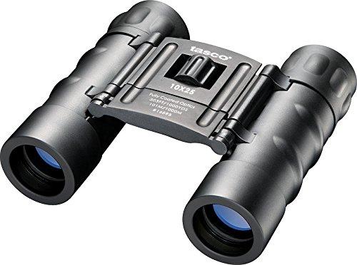 Tasco 10X25mm Essentials Binoculars Compact Roof Prism Black