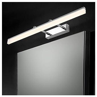 Ralbay 14W Lampes pour miroir Luminaire Salle de Bain Eclairage Salle de  Bain Lumière Blanc SMD2835 AC85-265V 910LM Applique Murale Acier Inoxydable