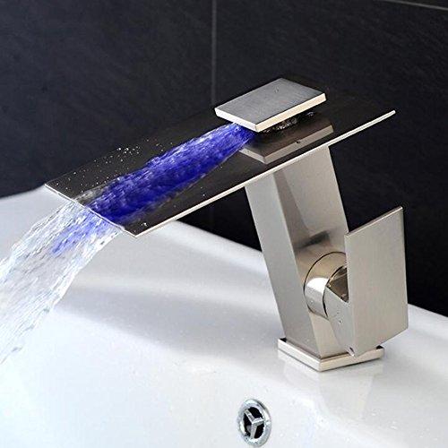 Jruia Design Led 3 Farbewechsel Wasserhahn Bad Wasserfall