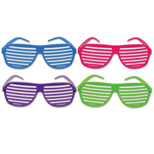 Beistle Shutter Shades, Blue/Cerise/Lime Green/Purple