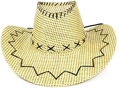 Amazon Com Fun Central At841 Stitched Straw Cowboy Hat
