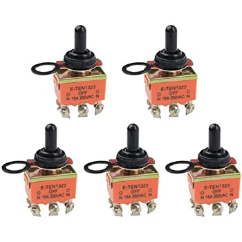 cylewet 20pcs momentary hinge metal roller lever micro switch ac 5a wmycongcong 5 pcs dpdt on off on 3 position toggle switch ac 15a 250v waterproof rubber cap